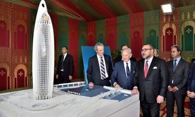 بنجلون يقدم تفاصلي أعلى برج في إفريقا للملك محمد السادس