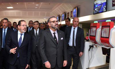 الملك يفتتح المحطة الجوية 1 بمطار محمد الخامس
